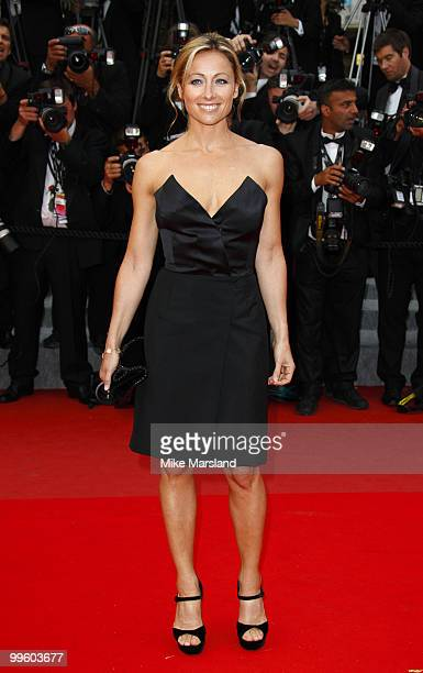 AnneSophie Lapix attends the 'You Will Meet A Tall Dark Stranger' Premiere held at the Palais des Festivals during the 63rd Annual International...