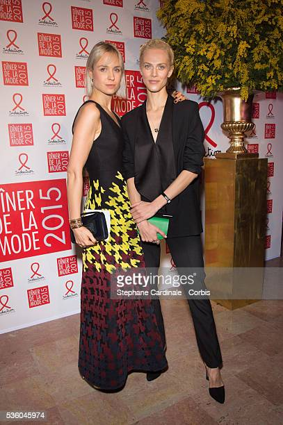 AnneSophie Mignaux and Aymeline Valade attend the Sidaction Gala Dinner 2015 at Pavillon d'Armenonville on January 29 2015 in Paris France