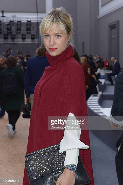 AnneSophie Mignaux attends the Chloe show as part of the Paris Fashion Week Womenswear Spring/Summer 2016 on October 1 2015 in Paris France