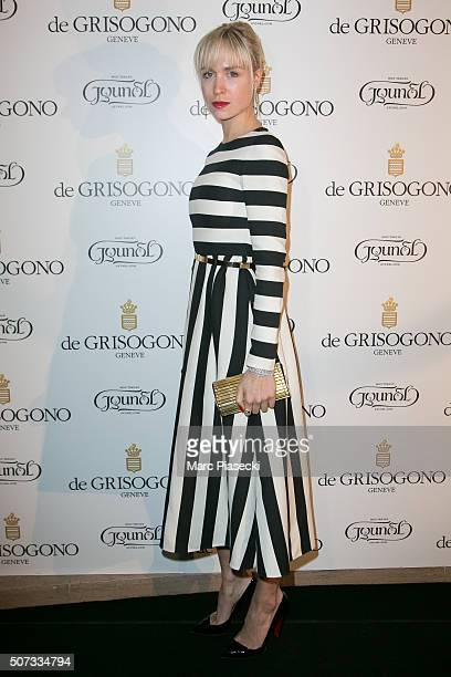 AnneSophie Mignaux attends the 'De Grisogono' La Boetie cocktail on January 28 2016 in Paris France