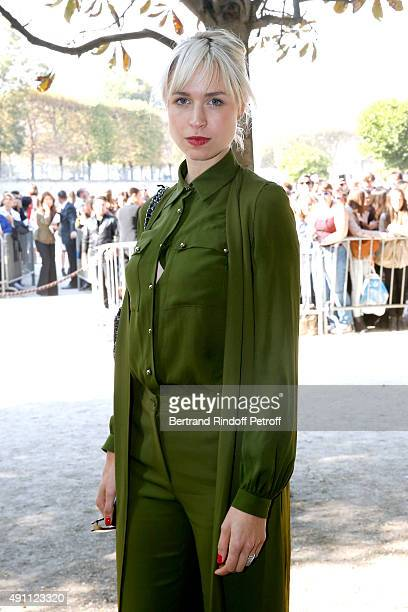 AnneSophie Mignaux attends the Elie Saab show as part of the Paris Fashion Week Womenswear Spring/Summer 2016 on October 3 2015 in Paris France