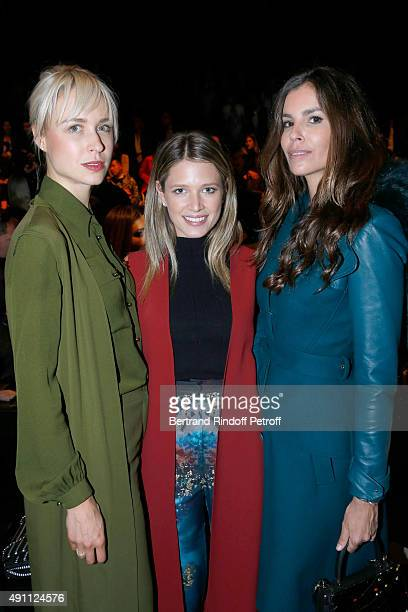 AnneSophie Mignaux Helena Bordon and Christina Pitanguy attend the Elie Saab show as part of the Paris Fashion Week Womenswear Spring/Summer 2016 on...