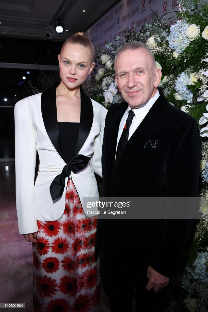 annesophie-monrad-and-jeanpaul-gaultier-attend-the-16th-sidaction-as-picture-id910301934