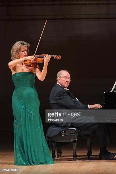 AnneSophie Mutter accompanied by Lambert Orkis on piano performing the music of Previn Franck and Beethoven at Carnegie Hall on Tuesday night...