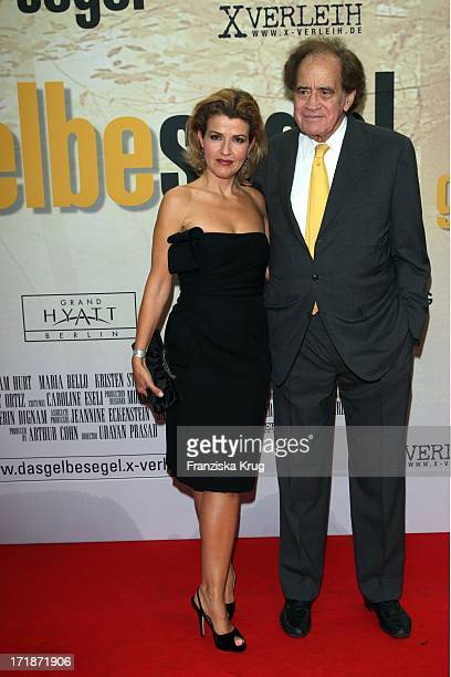 AnneSophie Mutter and Arthur Cohn at the Premiere Of The Film The Yellow Handkerchief in Cinemax on Potsdamer Platz in Berlin