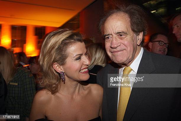 AnneSophie Mutter and Arthur Cohn at the Premiere Party In the film The Yellow Handkerchief In Josty the Sony Center in Berlin