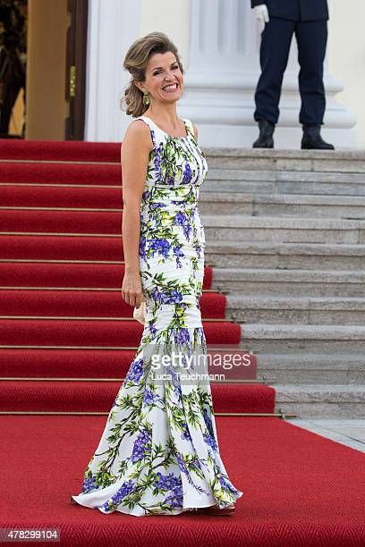 AnneSophie Mutter arrives at the Schloss Bellevue Palace during her visit to Germany on June 24 2015 in Berlin Germany