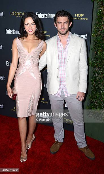 Annet Mahendru and director Lucian Gibson attend the 2014 Entertainment Weekly PreEmmy Party at Fig Olive Melrose Place on August 23 2014 in West...