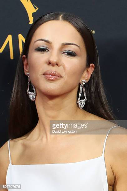 Annet Mahendru arrives at the 68th Annual Primetime Emmy Awards at the Microsoft Theater on September 18 2016 in Los Angeles California