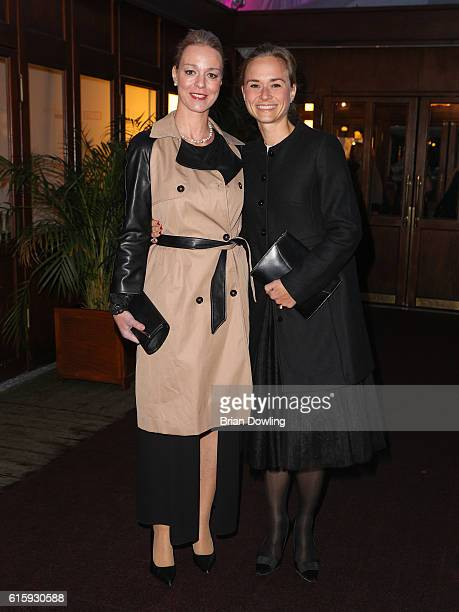 Annett Fleischer and Tatjana Lommel attend the 6th Diabetes Charity Gala at TIPI am Kanzleramt on October 20 2016 in Berlin Germany