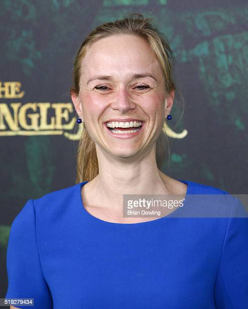 Annett Fleischer arrives at Disney's 'The Jungle Book' premiere at the Zoo Palast on April 5 2016 in Berlin Germany