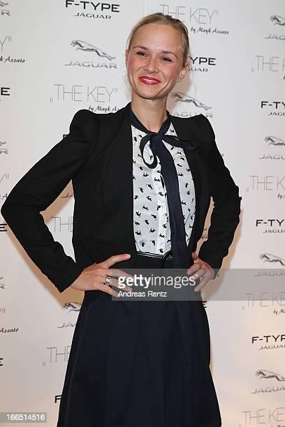 Annett Fleischer attends the Jaguar FType short film 'The Key' Premiere at eWerk on April 13 2013 in Berlin Germany