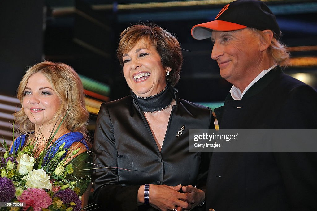 Annett Louisan Paola Felix And Otto Walkes Are Seen During The Udo