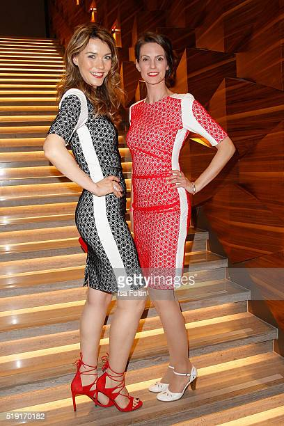 Annett Moeller and Kathrin Wrobel attend the Victress Awards Gala on 2016 in Berlin Germany