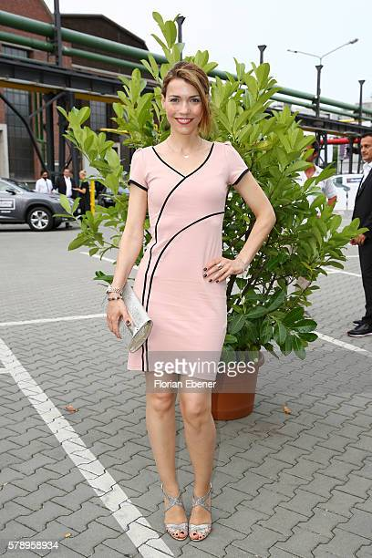 Annett Moeller attends the Breuninger show during Platform Fashion July 2016 at Areal Boehler on July 22 2016 in Duesseldorf Germany