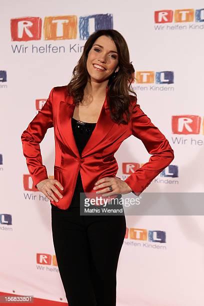 Annett Moeller attends the 'RTL Spendenmarathon' at RTL Studio Huerth on November 22 2012 in Cologne Germany