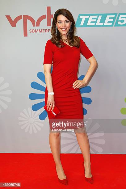 Annett Moeller attends the VPRT Hosts Summer Party at Cafe Moskau on September 09 2014 in Berlin Germany