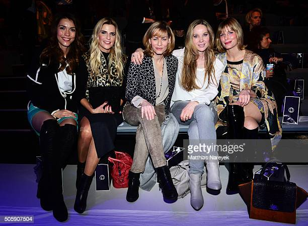 Annett Moeller Tanja Buelter Gesine Cukrowski AnnKathrin Kramer and Valerie Niehaus attend the Laurel show during the MercedesBenz Fashion Week...