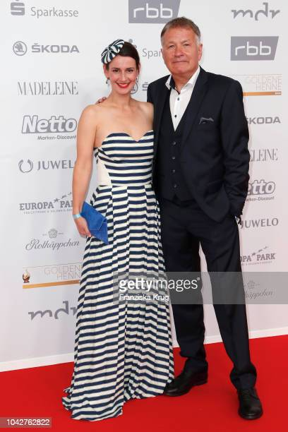 Annett Renneberg and Thomas Ruehmann attend the Goldene Henne on September 28 2018 in Leipzig Germany