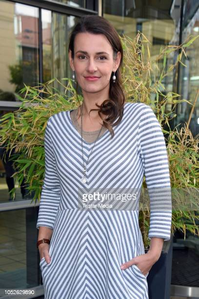 Annett Renneberg attends the ARD TV series 'In aller Freundschaft' 20 years anniversary fanfest at Media City on October 20 2018 in Leipzig Germany