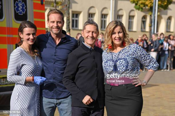 Annett Renneberg Julian Weigend Udo Schenk and Alexa Maria Surholt attend the ARD TV series 'In aller Freundschaft' 20 years anniversary fanfest at...
