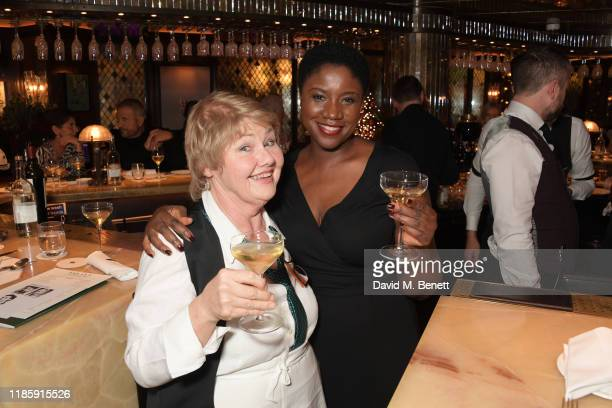 Annette Badland and Ginny Holder attend One Night Only at The Ivy in aid of Acting For Others on December 1 2019 in London United Kingdom