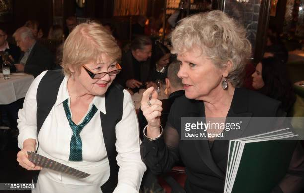 Annette Badland and Imelda Staunton attend One Night Only at The Ivy in aid of Acting For Others on December 1 2019 in London United Kingdom