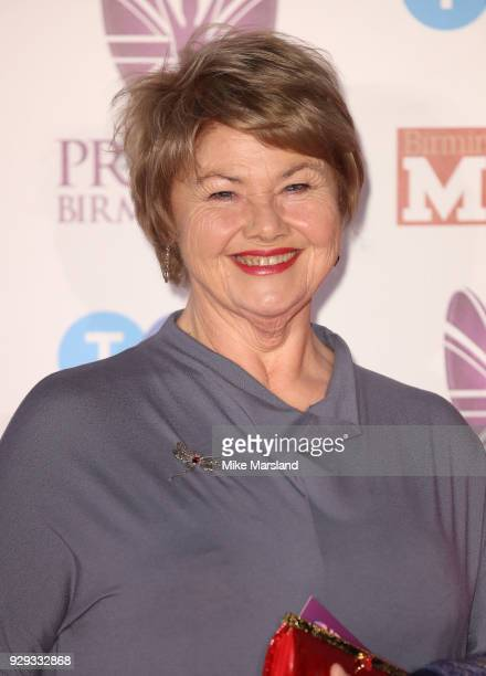 Annette Badland arrives at the Pride Of Birmingham Awards 2018 at University of Birmingham on March 8 2018 in Birmingham England
