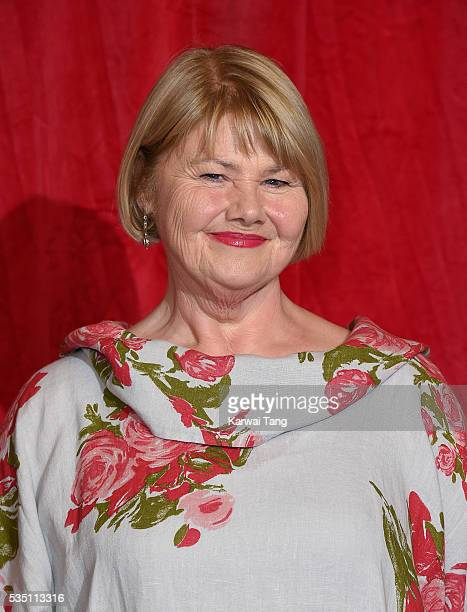 Annette Badland arrives for the British Soap Awards 2016 at the Hackney Town Hall Assembly Rooms on May 28 2016 in London England
