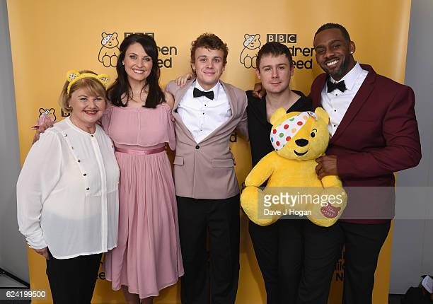 Annette Badland Emma Barton Ted Reilly DannyBoy Hatchard and Richard Blackwood show support for BBC Children in Need at Elstree Studios on November...