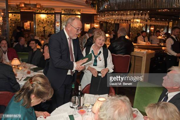 Annette Badland serves guests during One Night Only at The Ivy in aid of Acting For Others on December 1 2019 in London United Kingdom
