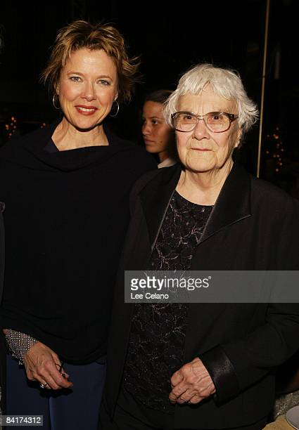 Annette Bening and author Harper Lee