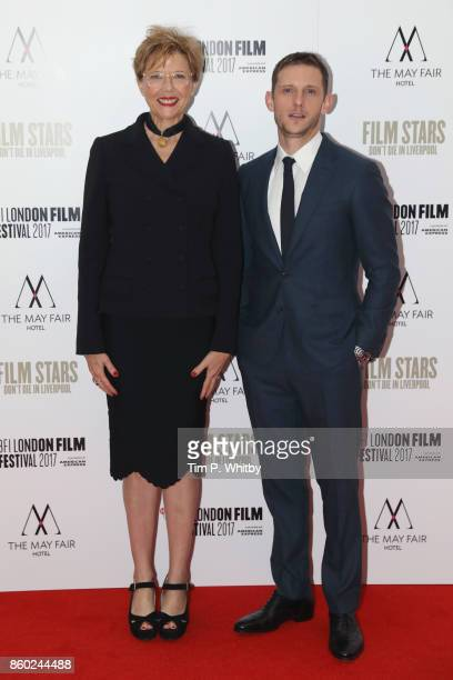Annette Bening and Jamie Bell attend the Mayfair Gala European Premiere of Film Stars Don't Die in Liverpool during the 61st BFI London Film Festival...