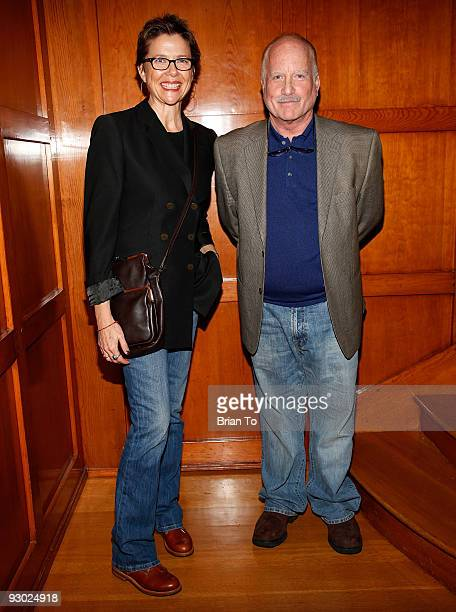 Annette Bening and Richard Dreyfuss attend Annette Bening And Kelly and Lou Gonda Host Actors Fund Cocktail Reception on November 12 2009 in Beverly...