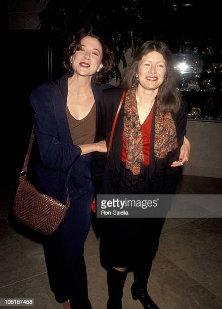 Annette Bening and Sister during 63rd Academy Awards Nominees Luncheon at Beverly Hilton Hotel in Beverly Hills CA United States