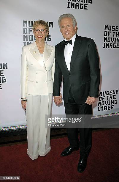 Annette Bening and Warren Beatty arrive at 30th annual Museum Of The Moving Image Salute to Warren Beatty at 583 Park Avenue on November 2 2016 in...