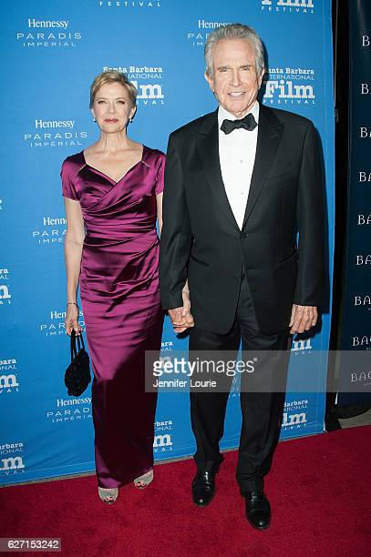 Annette Bening and Warren Beatty arrive at the Santa Barbara International Film Festival honors Warren Beatty with the 11th Annual Kirk Douglas Award...