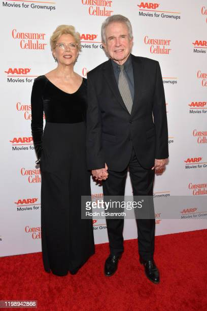 Annette Bening and Warren Beatty attend AARP The Magazine's 19th Annual Movies For Grownups Awards at Beverly Wilshire, A Four Seasons Hotel on...