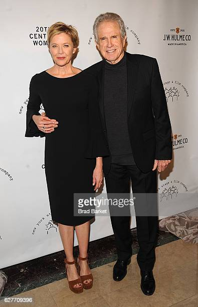 Annette Bening and Warren Beatty attend the 2016 New York Stage Film Winter Gala at The Plaza Hotel on December 4 2016 in New York City