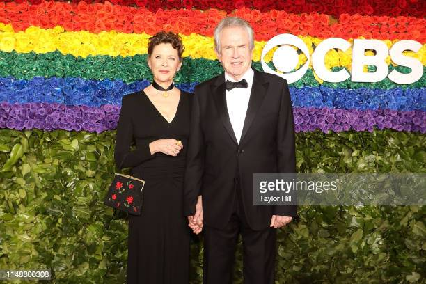 Annette Bening and Warren Beatty attend the 2019 Tony Awards at Radio City Music Hall on June 9 2019 in New York City