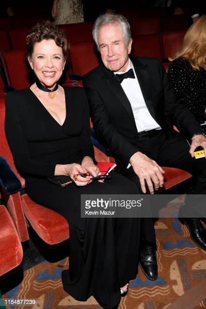 Annette Bening and Warren Beatty attend the 73rd Annual Tony Awards at Radio City Music Hall on June 09 2019 in New York City
