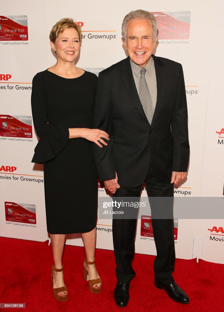 Annette Bening and Warren Beatty attend the AARP's 16th Annual Movies For Grownups Awards on February 6, 2017 in Beverly Hills, California.