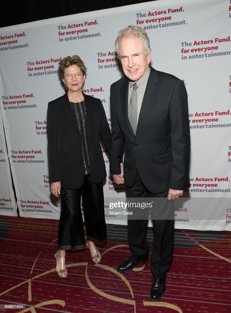 Annette Bening and Warren Beatty attend The Actors Fund 2018 Gala at Marriott Marquis Times Square on May 14, 2018 in New York City.