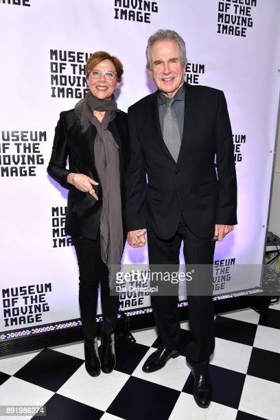 Annette Bening and Warren Beatty attend the Museum of the Moving Image Salute to Annette Bening at 583 Park Avenue on December 13 2017 in New York...