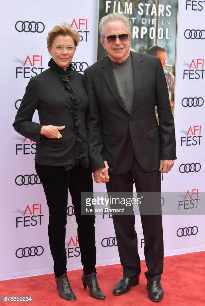 Annette Bening and Warren Beatty attend the screening of 'Film Stars Don't Die In Liverpool' at AFI FEST 2017 Presented By Audi at TCL Chinese...