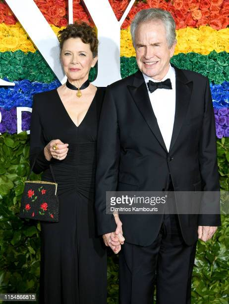 Annette Bening and Warren Beatty attends the 73rd Annual Tony Awards at Radio City Music Hall on June 09 2019 in New York City