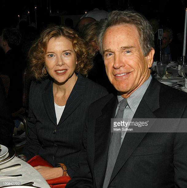 Annette Bening and Warren Beatty during Human Rights Watch 25th Anniversary Voices of Justice 2003 Dinner at The Regent Beverly Wilshire Hotel in...