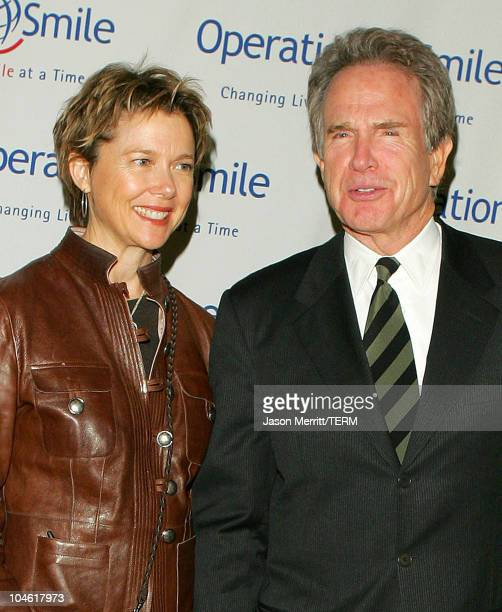 Annette Bening and Warren Beatty during Operation Smile 4th Annual Los Angeles Gala at Regent Beverly Wilshire Hotel in Los Angeles, California,...