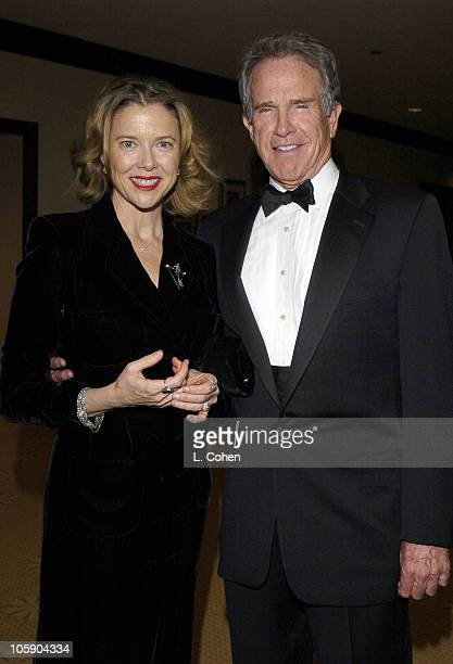 Annette Bening and Warren Beatty during The 15th Annual Producers Guild Awards Red Carpet at Century Plaza Hotel in Los Angeles Ca United States