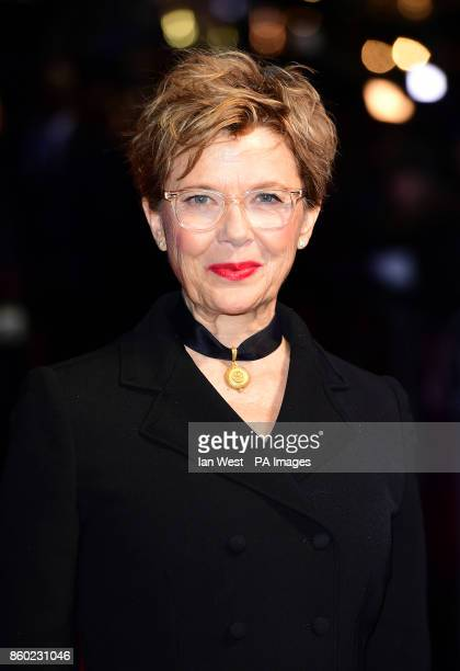 Annette Bening attending the premiere of Film Stars Don't Die In Liverpool as part of the BFI London Film Festival, at the Odeon Leicester Square,...